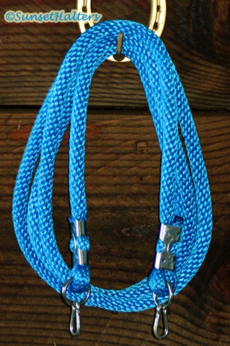 derby rope, roping reins, snaps