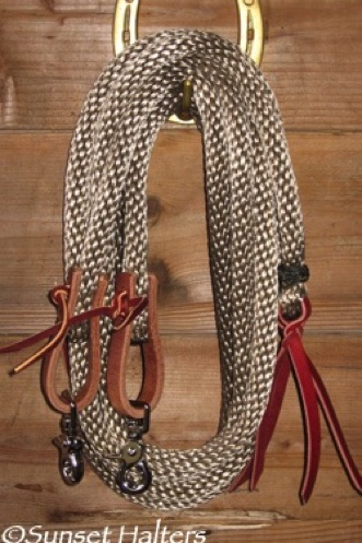 derby rope, split reins, Weaver, water tie