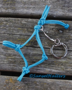 rope halter, key chain, diamond braid