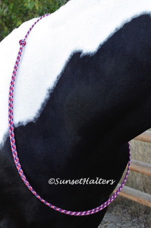 diamond braid, rope, neck, neck rope, training