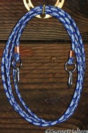 diamond braid, roping reins, snaps