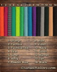 9/16, yacht braid, polyester, American made, fuchsia, teal, kelly, lime, blue, powder blue, purple, navy, black, silver, natural horsemanship