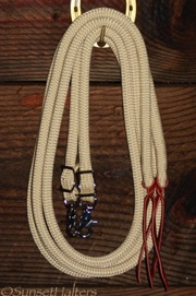 yacht braid, split reins, snaps