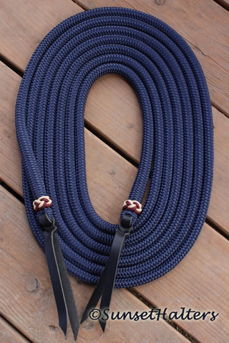 yacht braid, mecate reins, mecates, natural horsemanship, slobber straps, American made.