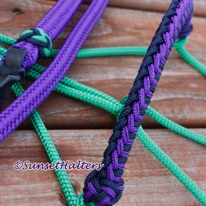 hope rope halter, halter cord, wrapped noseband, rope halter, yacht braid, lead rope