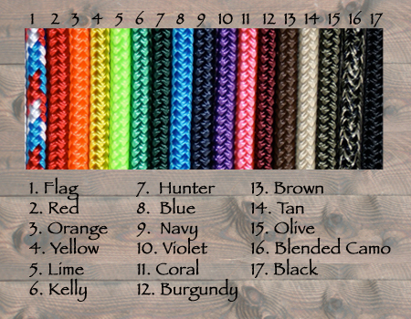 "1/4"" yacht braid rope"